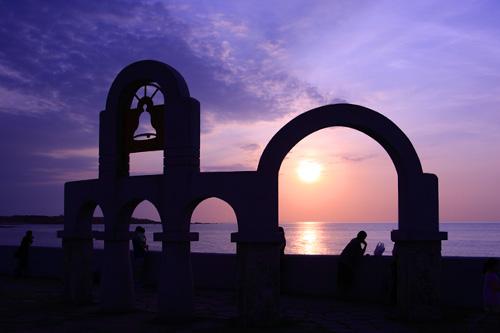 海邊的夕陽黃昏~